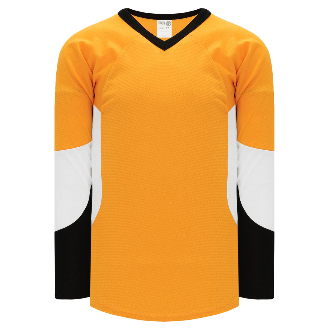 H6600-329 Gold/Black/White League Style Blank Hockey Jerseys