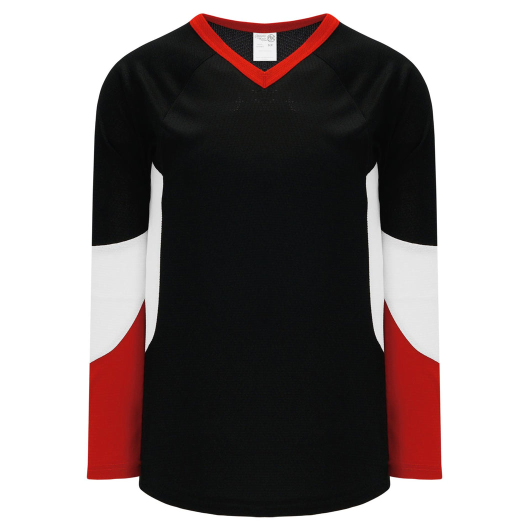 H6600-348 Black/Red/White League Style Blank Hockey Jerseys