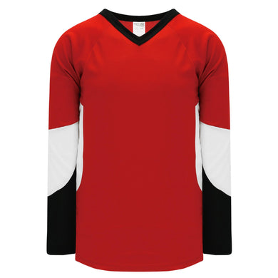 H6600-414 Red/Black/White League Style Blank Hockey Jerseys