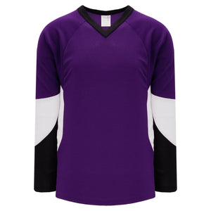 H6600-438 Purple/Black/White League Style Blank Hockey Jerseys