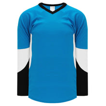 H6600-444 Pro Blue/Black/White League Style Blank Hockey Jerseys