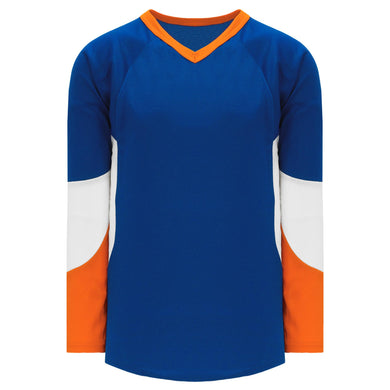 H6600-482 Royal/Orange/White League Style Blank Hockey Jerseys
