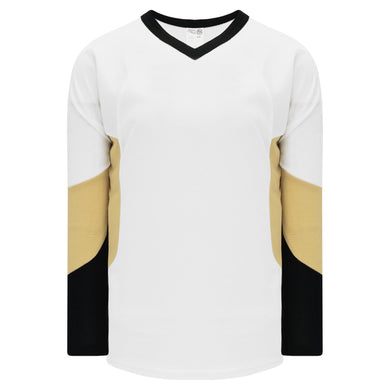 H6600-629 White/Black/Vegas League Style Blank Hockey Jerseys