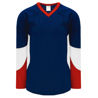 H6600-764 Navy/Red/White League Style Blank Hockey Jerseys