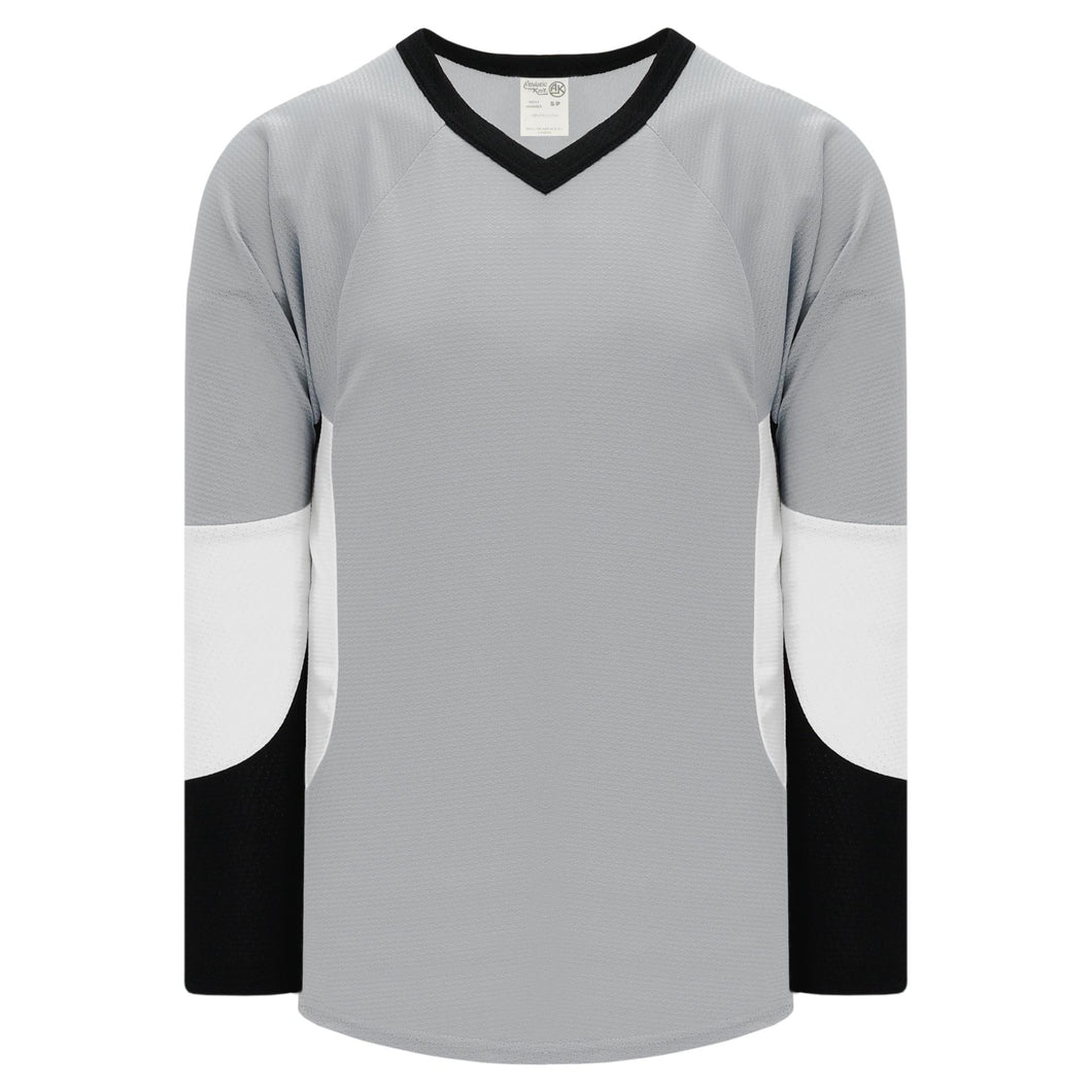 H6600-973 Grey/Black/White League Style Blank Hockey Jerseys