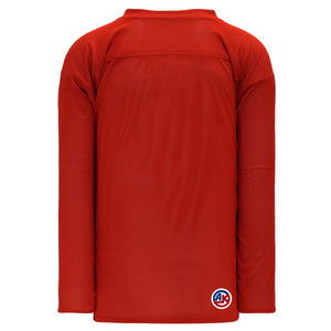 H686-208 Red/White Blank Reversible Practice Jerseys