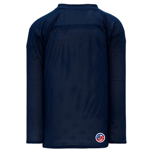 H686-216 Navy/White Blank Reversible Practice Jerseys