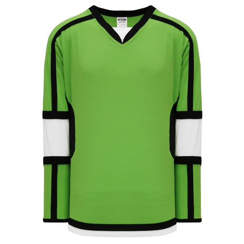 H7000-107 Lime Green/White/Black League Style Blank Hockey Jerseys