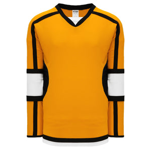 H7000-329 Gold/White/Black League Style Blank Hockey Jerseys
