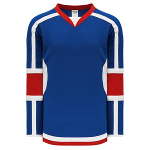 H7000-333 Royal/Red/White League Style Blank Hockey Jerseys