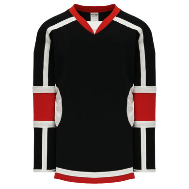 H7000-348 Black/Red/White League Style Blank Hockey Jerseys