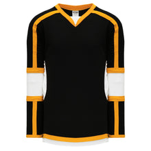 H7000-437 Black/White/Gold League Style Blank Hockey Jerseys