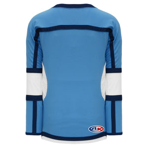 H7000-475 Sky/White/Navy League Style Blank Hockey Jerseys