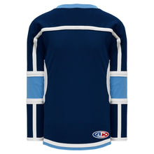 H7000-761 Navy/Sky/White League Style Blank Hockey Jerseys