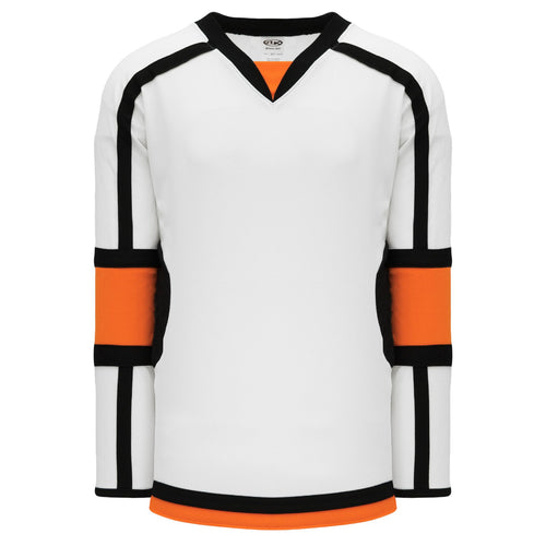 H7000-833 White/Orange/Black League Style Blank Hockey Jerseys