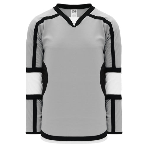 H7000-973 Grey/White/Black League Style Blank Hockey Jerseys