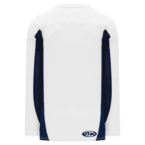 H7100-217 White/Navy League Style Blank Hockey Jerseys