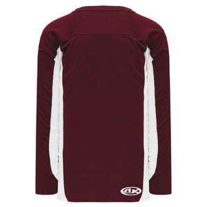 H7100-233 Maroon/White League Style Blank Hockey Jerseys
