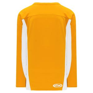 H7100-236 Gold/White League Style Blank Hockey Jerseys