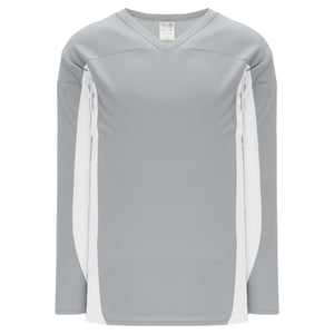 H7100-245 Grey/White League Style Blank Hockey Jerseys