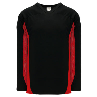 H7100-249 Black/Red League Style Blank Hockey Jerseys