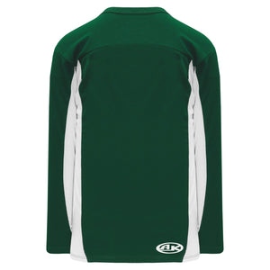 H7100-260 Dark Green/White League Style Blank Hockey Jerseys