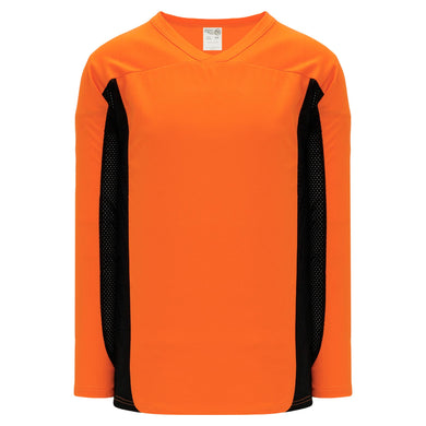 H7100-263 Orange/Black League Style Blank Hockey Jerseys