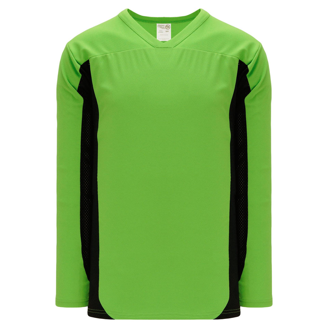 H7100-269 Lime Green/Black League Style Blank Hockey Jerseys