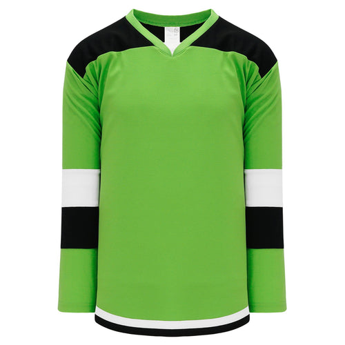 H7400-107 Lime Green/Black/White League Style Blank Hockey Jerseys