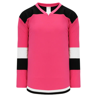 H7400-272 Pink/Black/White League Style Blank Hockey Jerseys