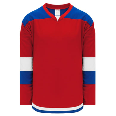 H7400-344 Red/Royal/White League Style Blank Hockey Jerseys