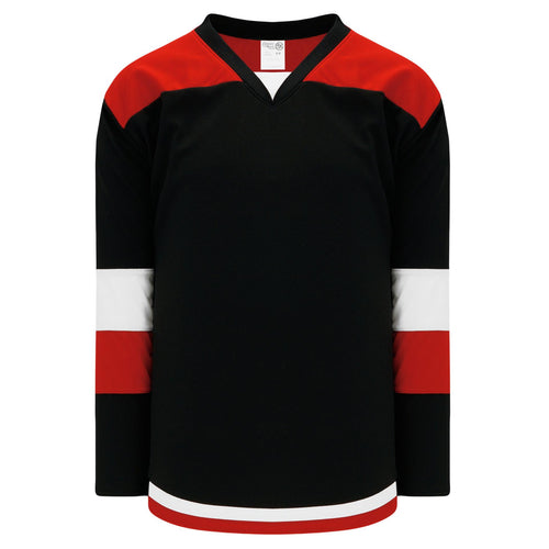 H7400-348 Black/Red/White League Style Blank Hockey Jerseys