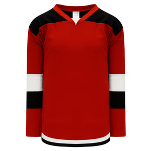H7400-414 Red/Black/White League Style Blank Hockey Jerseys