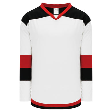 H7400-415 White/Black/Red League Style Blank Hockey Jerseys