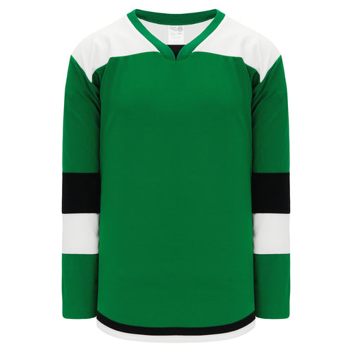 H7400-440 Kelly/White/Black League Style Blank Hockey Jerseys