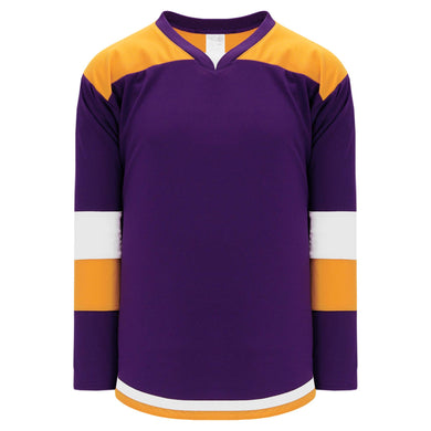 H7400-441 Purple/Gold/White League Style Blank Hockey Jerseys