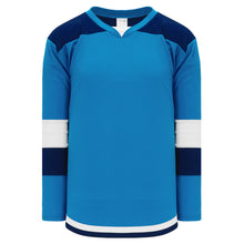 H7400-468 Pro Blue/Navy/White League Style Blank Hockey Jerseys