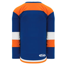 H7400-482 Royal/Orange/White League Style Blank Hockey Jerseys