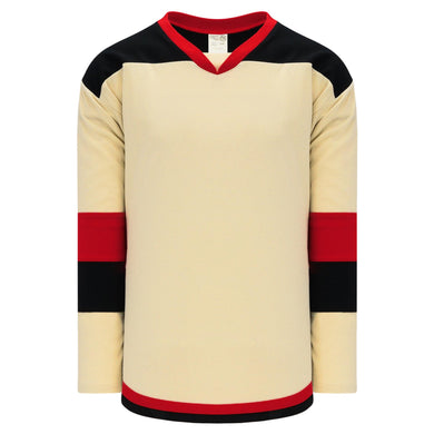 H7400-546 Sand/Black/Red League Style Blank Hockey Jerseys