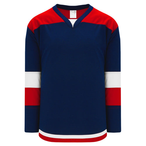 H7400-764 Navy/Red/White League Style Blank Hockey Jerseys