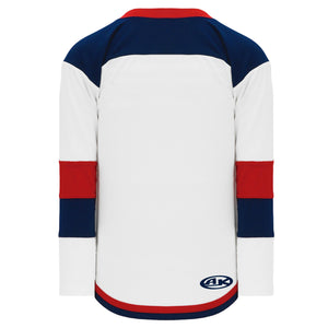 H7400-765 White/Navy/Red League Style Blank Hockey Jerseys