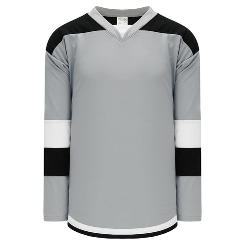 H7400-973 Grey/Black/White League Style Blank Hockey Jerseys