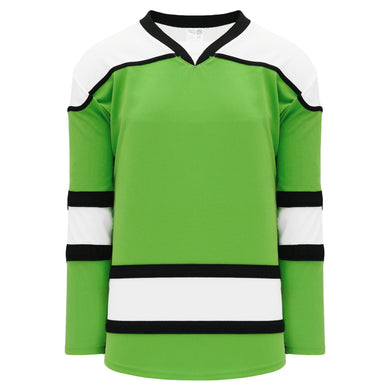 H7500-107 Lime Green/White/Black League Style Blank Hockey Jerseys