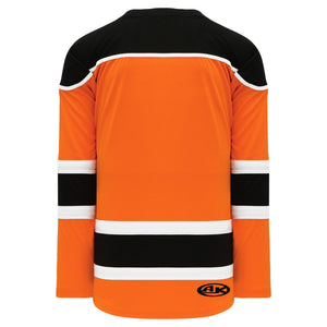 H7500-330 Orange/Black/White League Style Blank Hockey Jerseys
