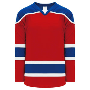 H7500-344 Red/Royal/White League Style Blank Hockey Jerseys