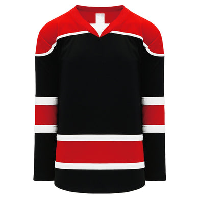 H7500-348 Black/Red/White League Style Blank Hockey Jerseys