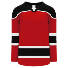 H7500-414 Red/Black/White League Style Blank Hockey Jerseys