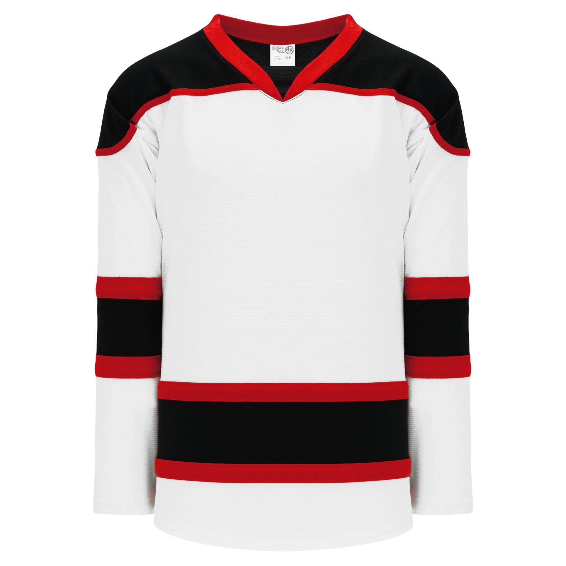 black and red hockey jersey
