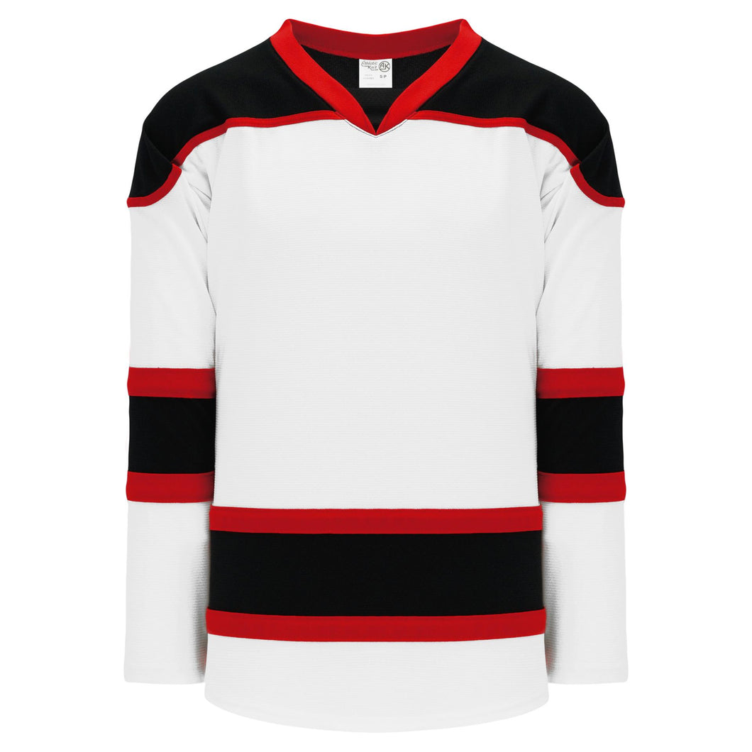 H7500-415 White/Black/Red League Style Blank Hockey Jerseys