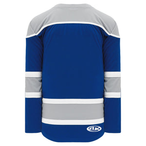H7500-446 Royal/Grey/White League Style Blank Hockey Jerseys